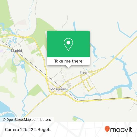 Carrera 12b 222 map