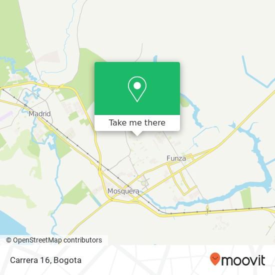 Carrera 16 map