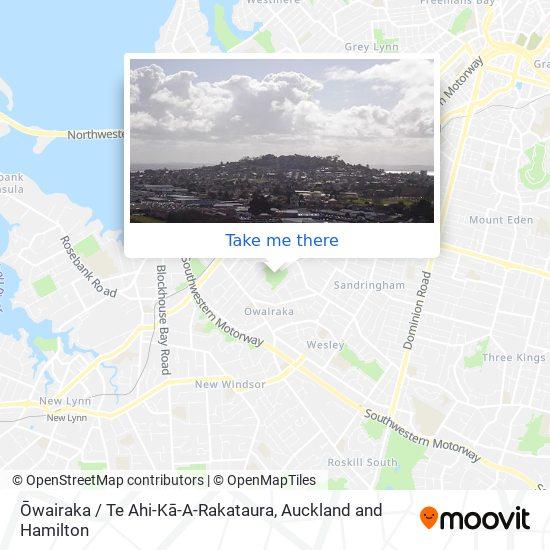 Mount Albert (Owairaka Domain) map