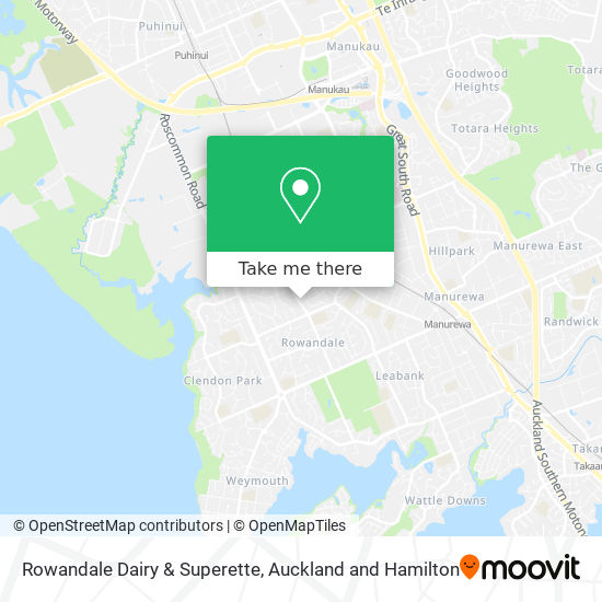 Rowendale Dairy & Superette map