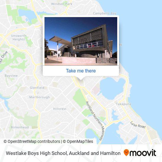 Westlake Boys High School map