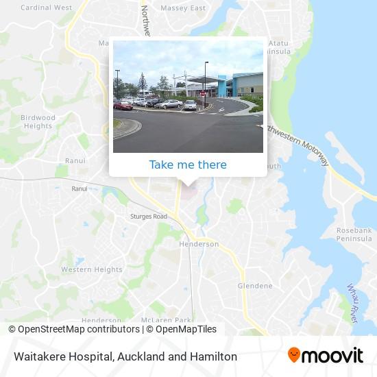 Waitakere Hospital map