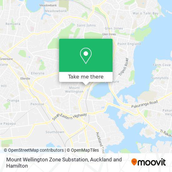 Mount Wellington Zone Substation map