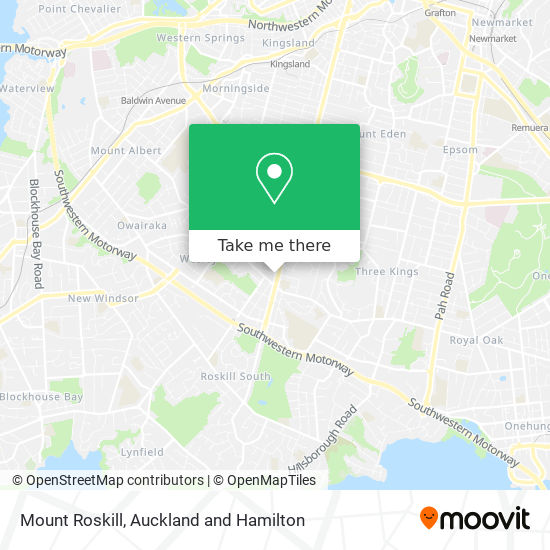 Mount Roskill map