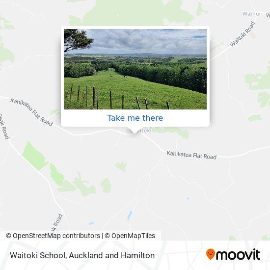 Waitoki School map