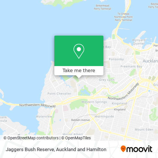 Jaggers Bush Reserve map
