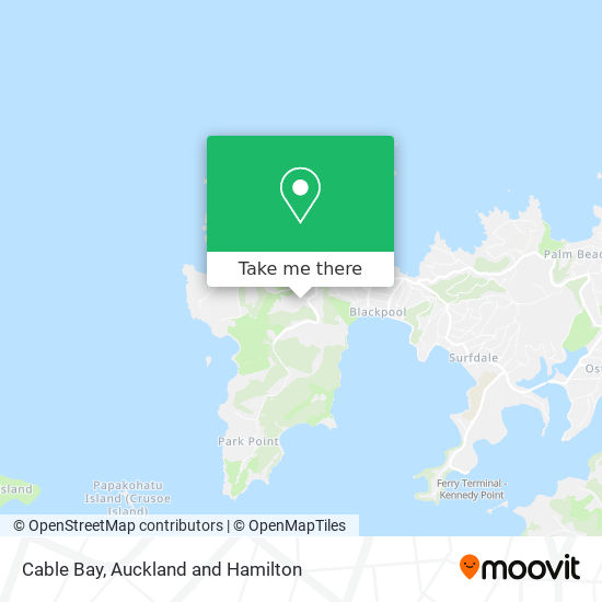 Cable Bay map