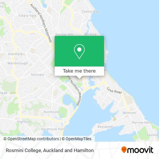 Rosmini College map
