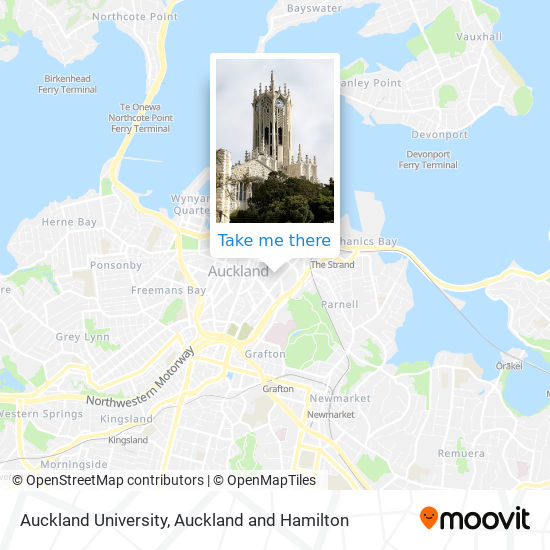 Auckland University map