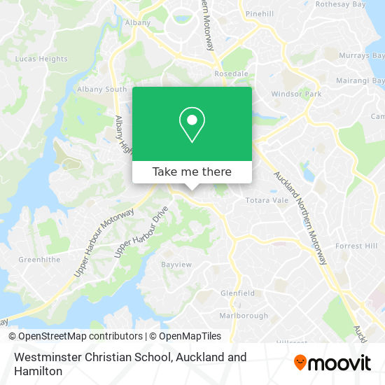Westminster Christian School map