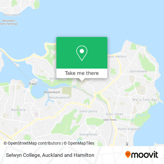 Selwyn College map
