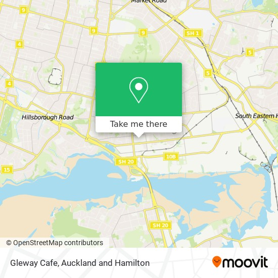 Gleway Cafe map