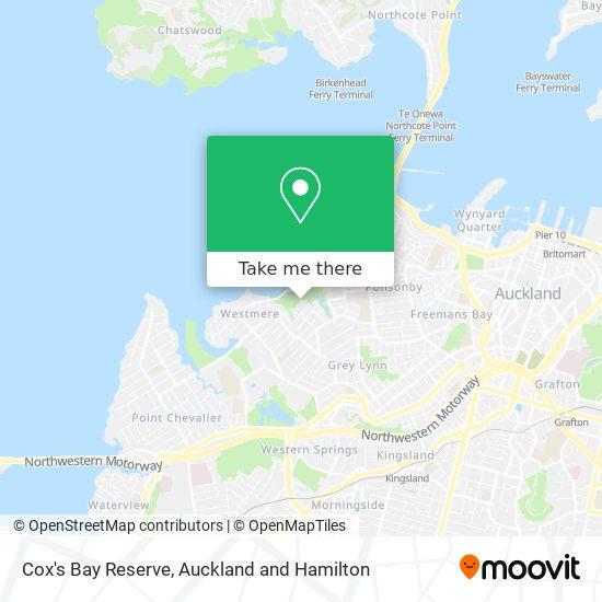Cox's Bay Reserve map