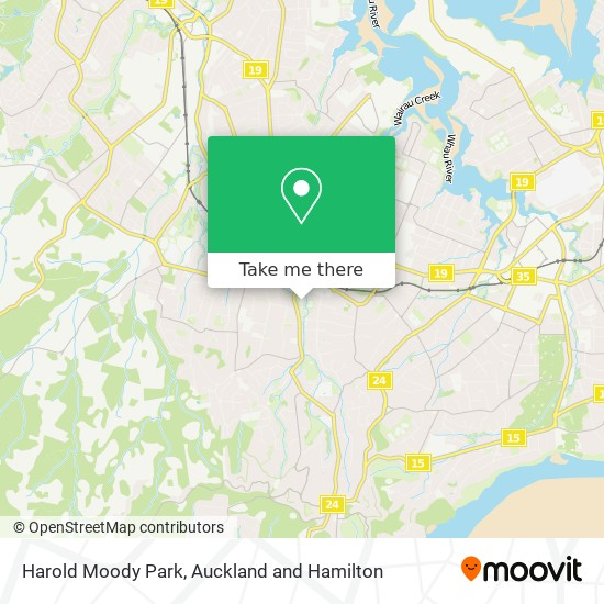 Harold Moody Park map