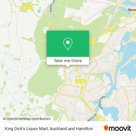 King Dick's Liquor Mart map