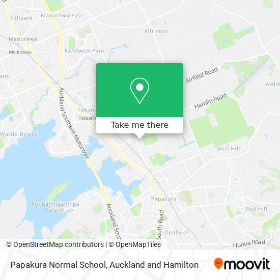 Papakura Normal School map