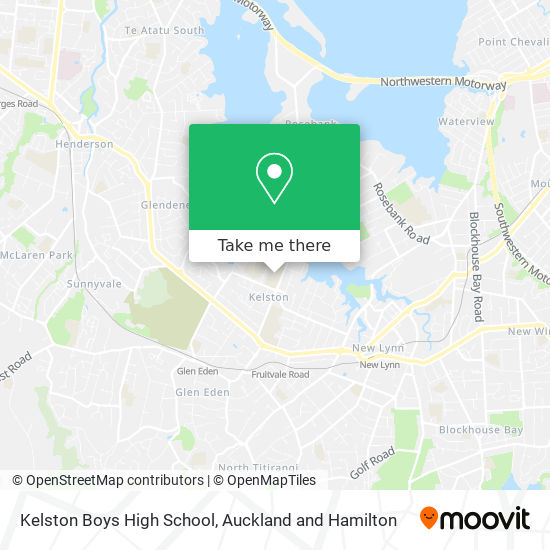 Kelston Boys High School map