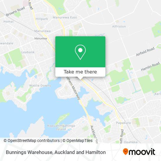 Bunnings Warehouse map