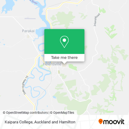 Kaipara College map