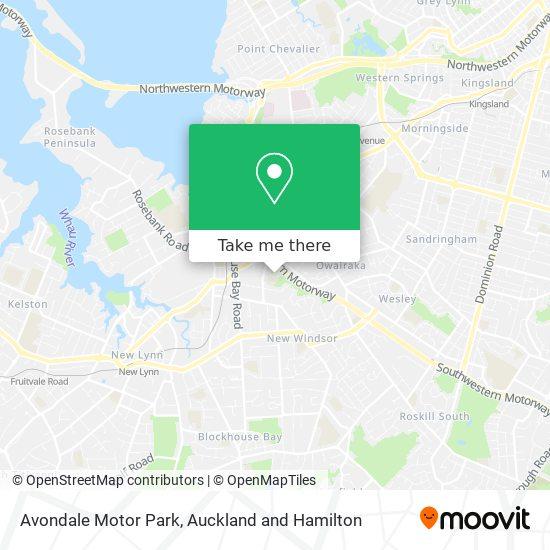 Avondale Motor Park map