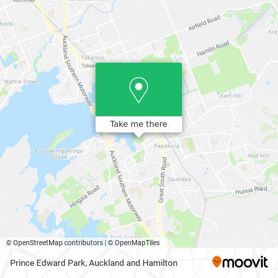Prince Edward Park map