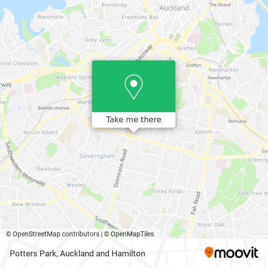 Potters Park map
