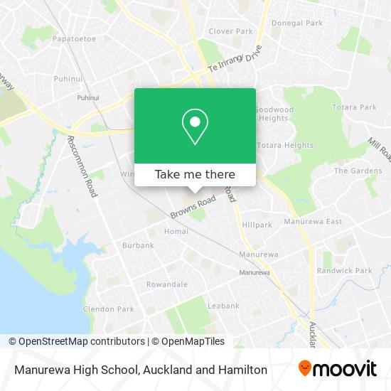Manurewa High School map