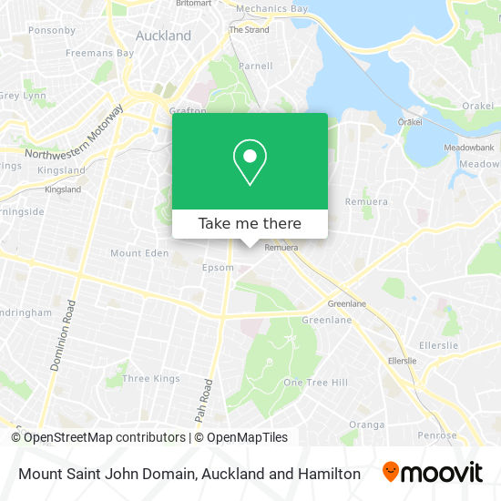 Mount Saint John Domain map
