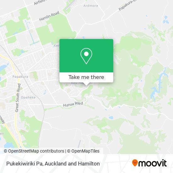 Pukekiwiriki Pa map