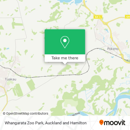 Whangarata Zoo Park map
