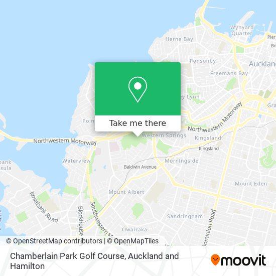 Chamberlain Park Golf Course map