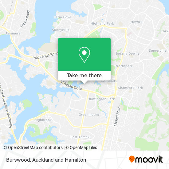 Burswood map