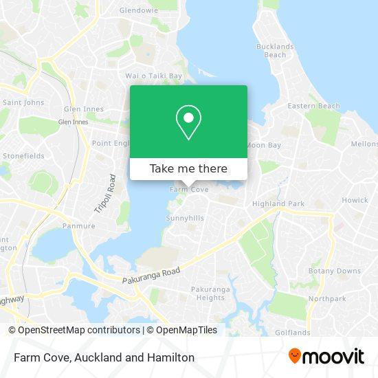 Farm Cove map