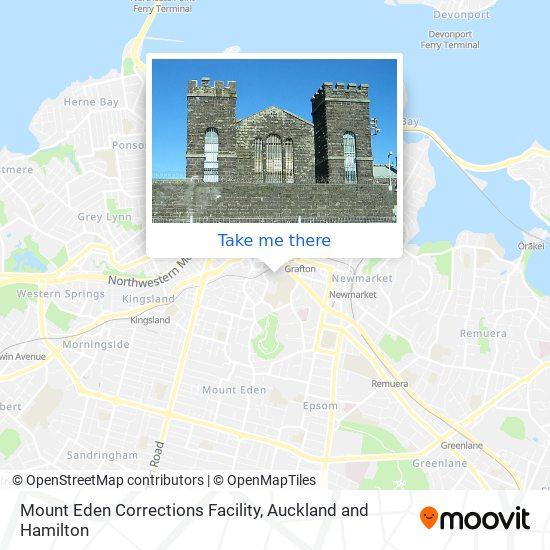 Mount Eden Corrections Facility map