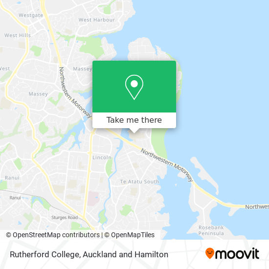 Rutherford College map
