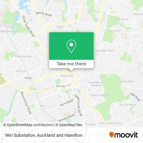 Wiri Substation map