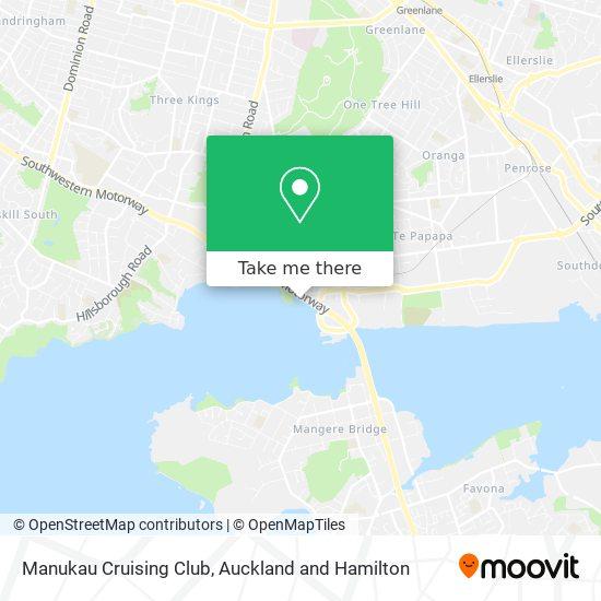 Manukau Cruising Club map