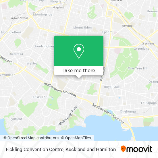 Fickling Convention Centre map