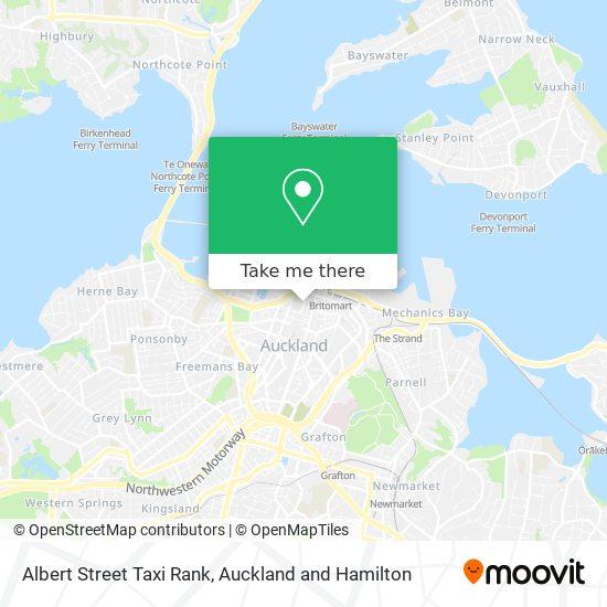 Albert Street Taxi Rank map