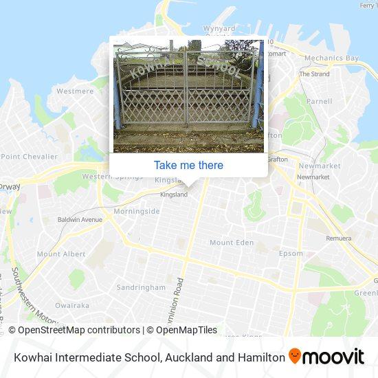 Kowhai Intermediate School map