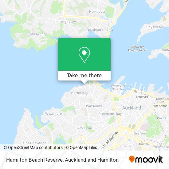 Hamilton Beach Reserve map