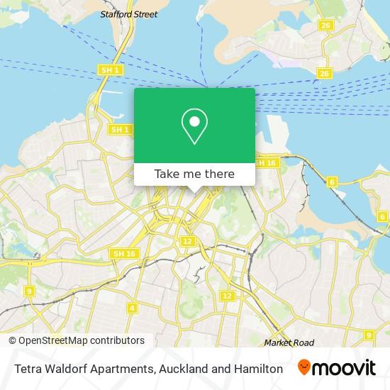 Tetra Waldorf Apartments map