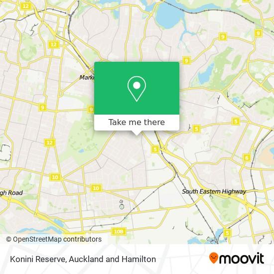 Konini Reserve map