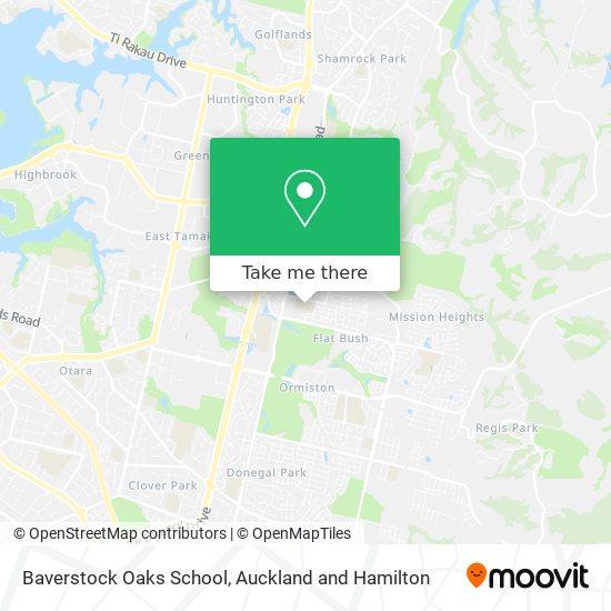 Baverstock Oaks School map