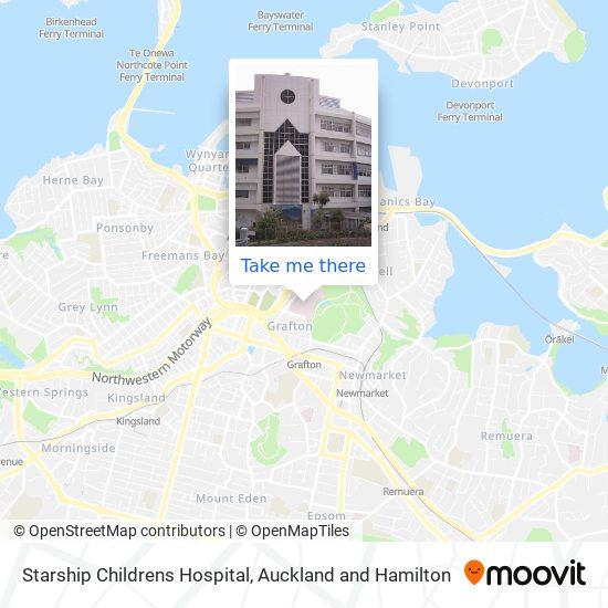 Starship Childrens Hospital map