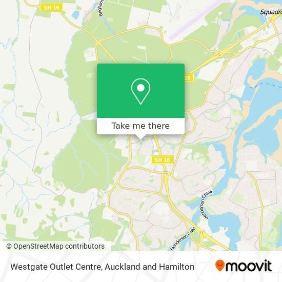 Westgate Outlet Centre map