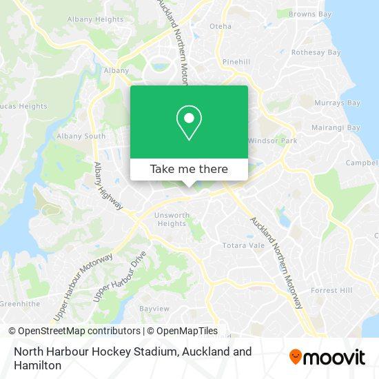 North Harbour Hockey Stadium map