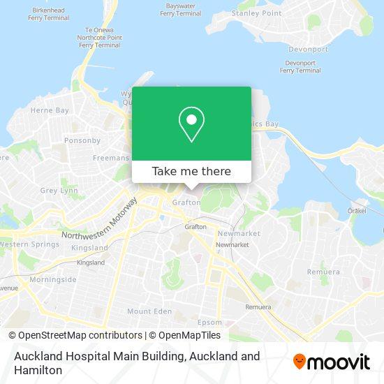 Auckland Hospital Main Building map