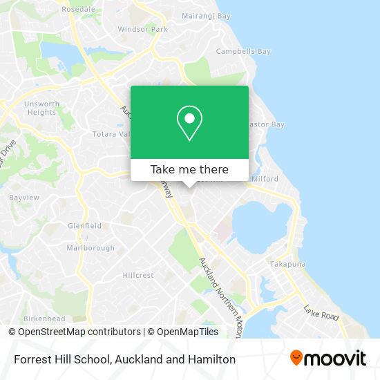 Forrest Hill School map