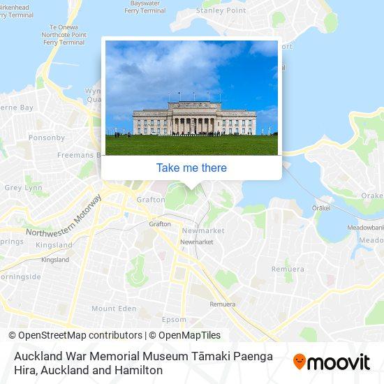 Auckland War Memorial Museum map